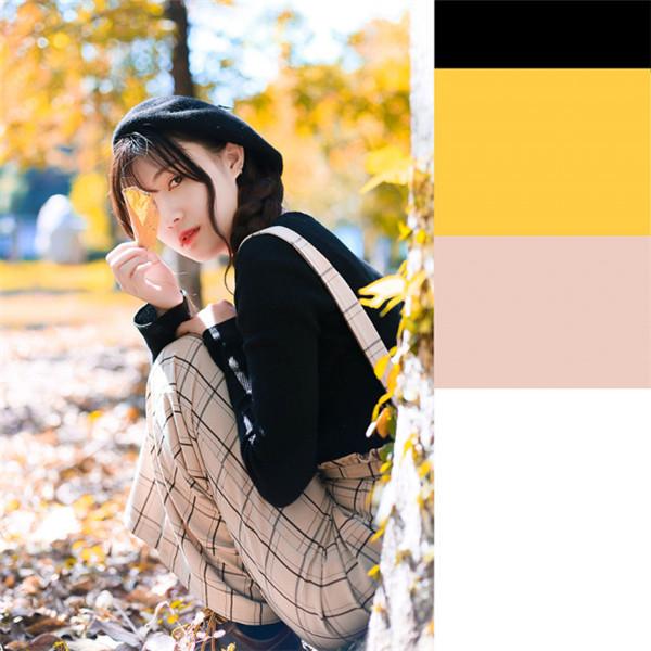 如何拍出让人心动的暖秋少女,色彩搭配来啦~