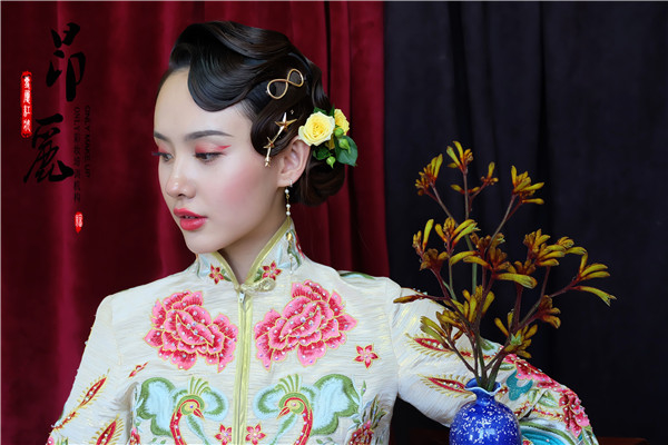 民國時期的復古中式新娘造型欣賞