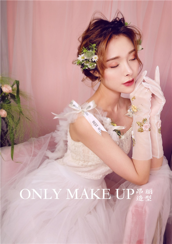 粉色少女新娘造型系列 俏皮可爱