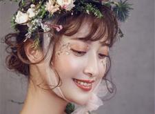 最新影楼资讯新闻-婉约动人的鲜花新娘造型欣赏