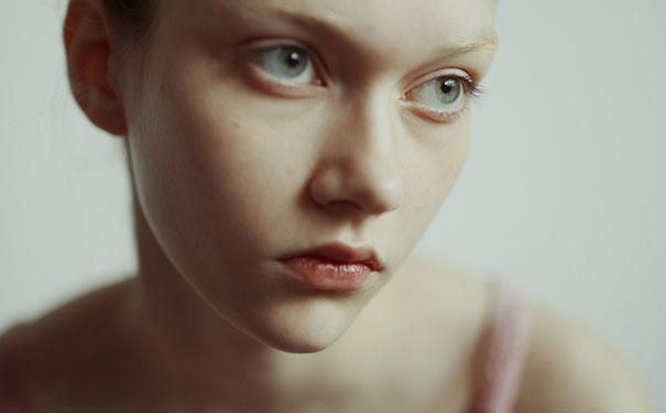 近距离超美面庞,朦胧柔美的少女影像