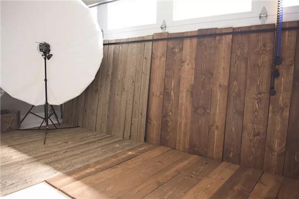 车库改造的新生儿摄影师工作室
