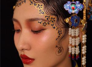 最新影楼资讯新闻-中国风之彩绘与美妆的完美结合