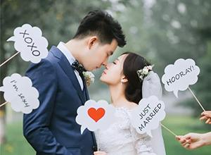 最新影楼资讯新闻-婚礼照片如何刷爆朋友圈?秘密都在拍照道具上
