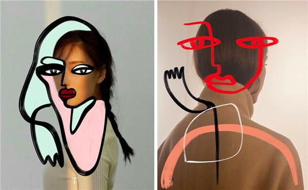 抽象绘画碰撞时尚大片 更具创意的视觉表达