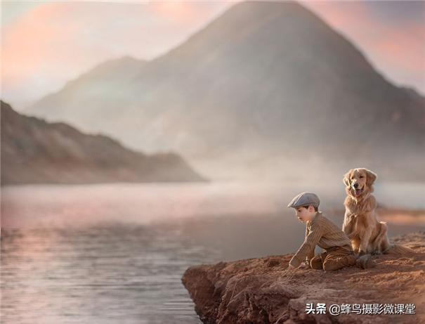孩子与爱犬一同成长 如童话般唯美的无邪世界