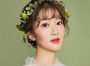 清新纱裙少女 田园风编发造型