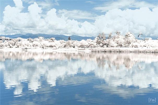 通过PS把湖泊景观调成唯美的雪景效果