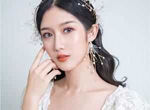 波紋卷發 經典復古蕾絲新娘造型