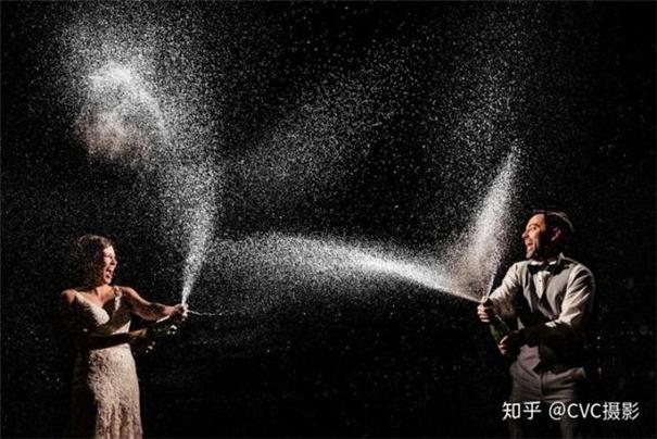 离机闪光灯创意布光示范,婚礼摄影还能这样拍