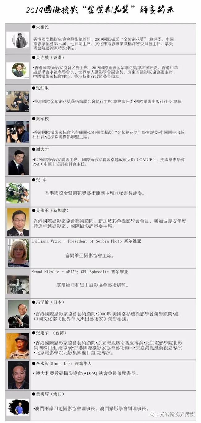 """2020國際攝影""""金紫荊花獎""""申報啟事"""