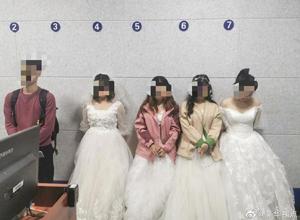 """最新影楼资讯新闻-这样的""""文艺范""""不可取 四女子铁路上拍婚纱艺术照被罚"""